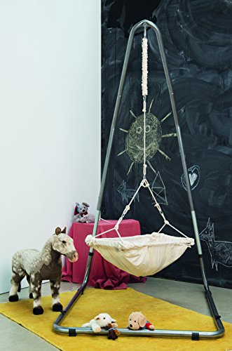 AMAZONAS Formschönes Hängesesselgestell aus Stahl Luna RockStone höhenverstellbar für Wohnzimmer und Garten 120 x 200-240 x 145 cm bis 120 kg - 7