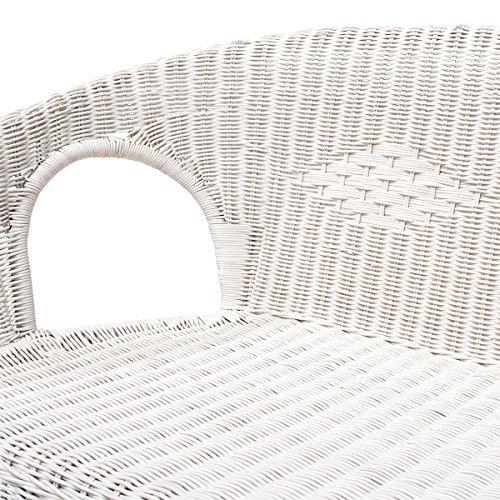Rattanmöbel-Set Chris – 4-teilig (Rattansessel, Rattansofa, Tisch) – Weiß - 4