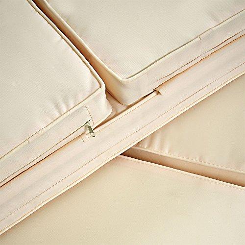Deuba Poly Rattan Lounge Sofa 2 Sitzer Sitztruhe mit Stauraum Dicke Auflagen Relaxliege Sonnenliege Couch Set Schwarz - 8