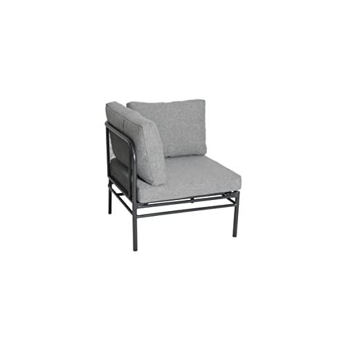 greemotion Loungeset Toulouse eisengrau/grau, Eckbank mit Tisch für In- und Outdoor, Bank mit Rückenverstellung, pflegeleichtes Streckmetallgestell, Sitzelemente einfach umzustellen, ca. 5 Sitzplätze - 9