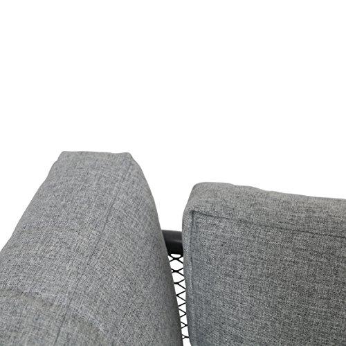 greemotion Loungeset Toulouse eisengrau/grau, Eckbank mit Tisch für In- und Outdoor, Bank mit Rückenverstellung, pflegeleichtes Streckmetallgestell, Sitzelemente einfach umzustellen, ca. 5 Sitzplätze - 10