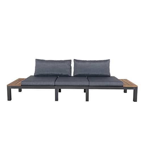 Chicreat Three-Seat Convertible Sofa with FSC Acacia Side Table, 270 x 78 x 86cm - 2