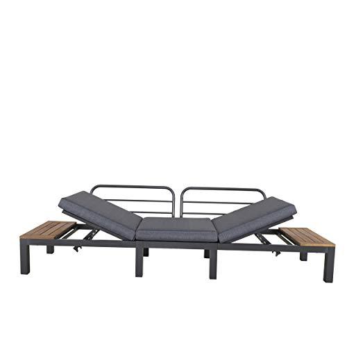 Chicreat Three-Seat Convertible Sofa with FSC Acacia Side Table, 270 x 78 x 86cm - 3