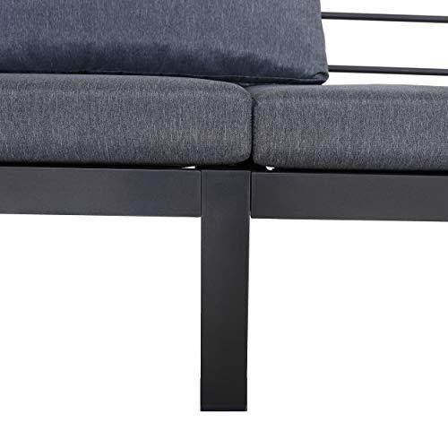 Chicreat Three-Seat Convertible Sofa with FSC Acacia Side Table, 270 x 78 x 86cm - 7