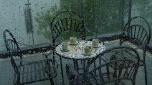 gartenmöbel regen
